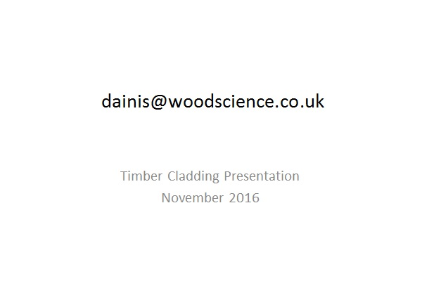 Dainis Dauksta - Wood Science Ltd.