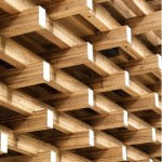 Photo of stack of glulam timber