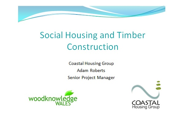 First slide of power point presentation by Coastal Housing presented by Adam Roberts