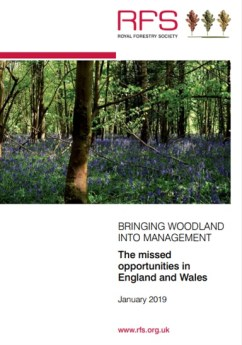 Snapshot of cover for Royal Forestry Society Report on woodland management
