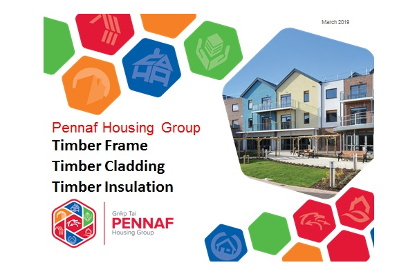 Cover slide to Pennaf Power point presentation on using wood fibre insulation in social housing
