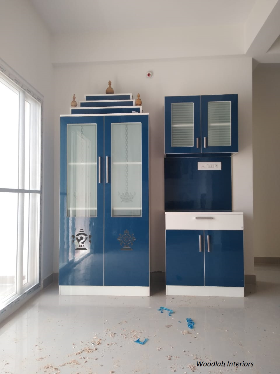 Pooja Unit Designs  Woodlab Interiors