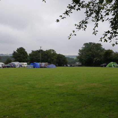 Plenty of space in the camping field