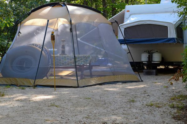 Campground with tubing in Maine