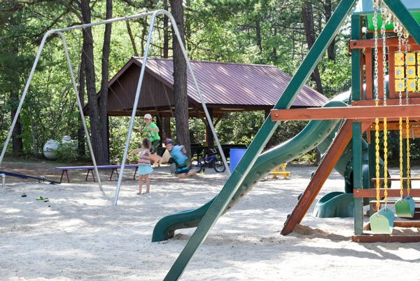 Campground with fund Playground