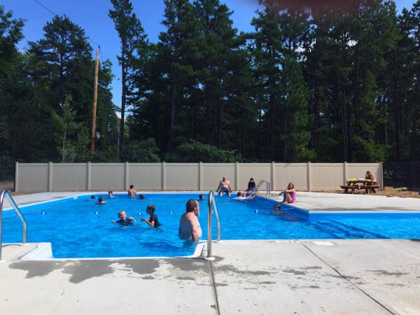 Campground with large pool