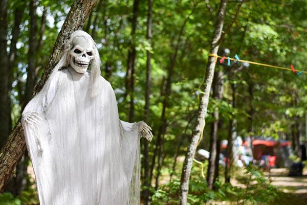 Campground in Maine Halloween event