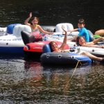Tubing on the Saco River