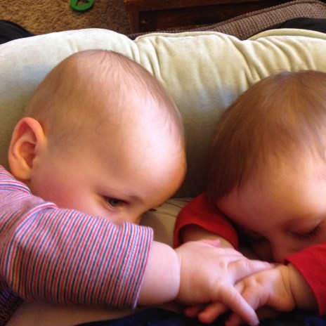 I knew so little about nursing pre-babies. I suppose that's pretty normal, but when I was learning (and what a learning curve!) I wish someone had told me how incredible and beautiful it would be to see my kids hold hands while they ate together. It still overwhelms me with joy ever time!