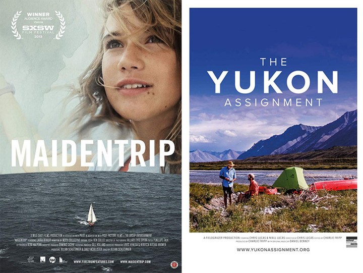 Movie posters for Maidentrip and The Yukon Assignment