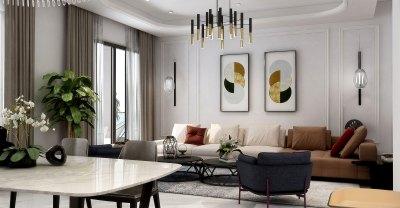 Living room interior design villa french style 法式 客廳 室內設計 重慶 別墅