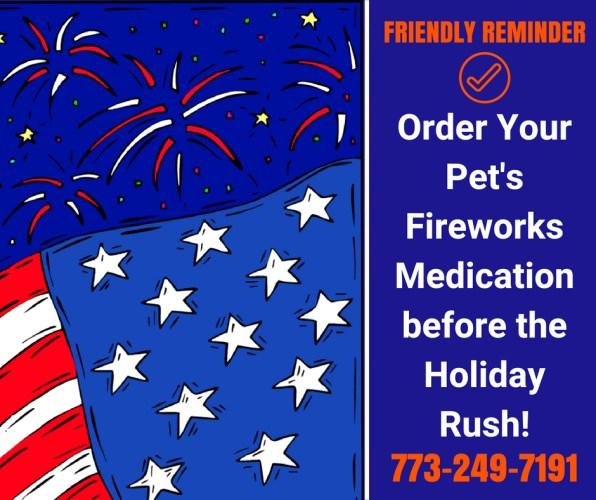 Get pet fireworks medication at Woodlawn Animal Hospital
