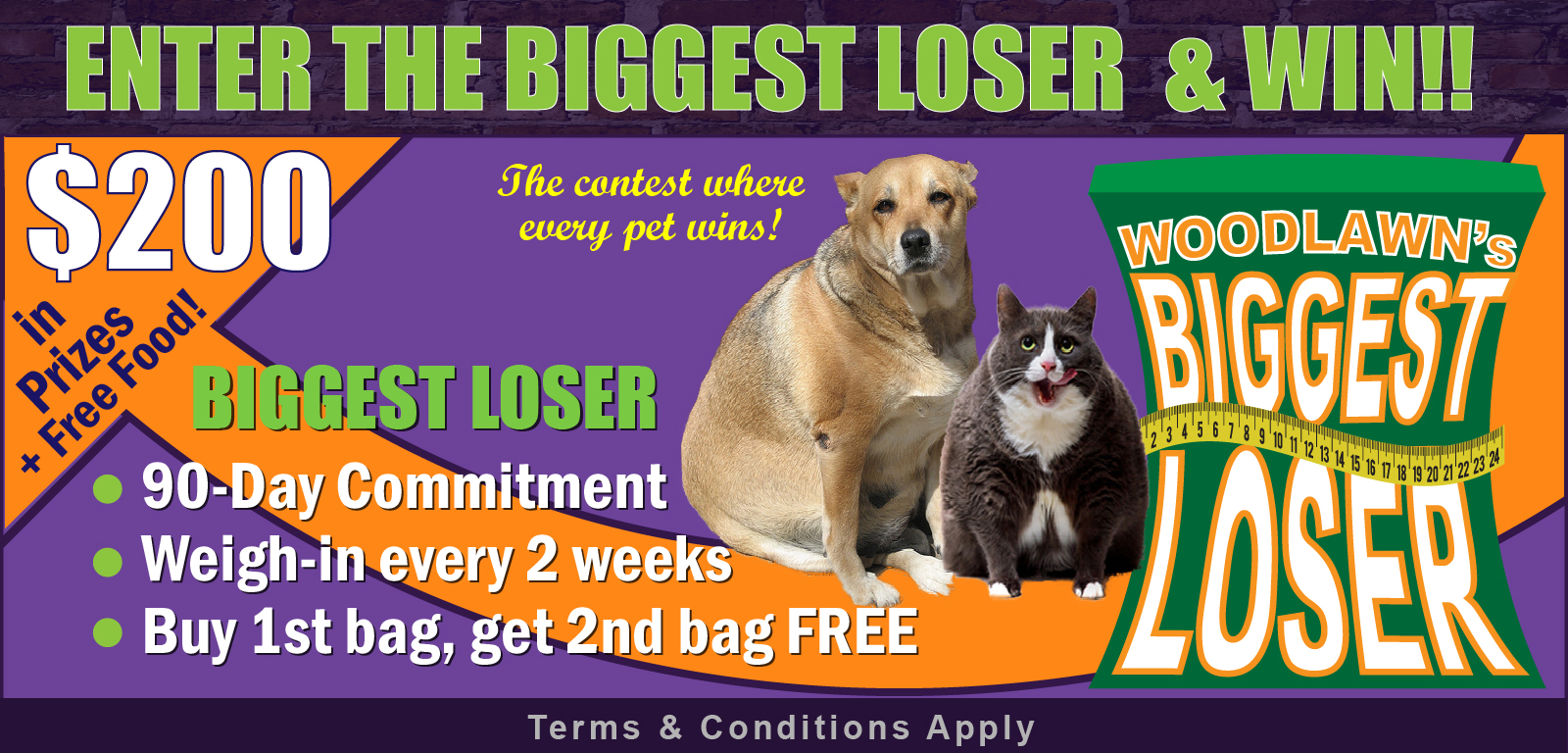 Enter Woodlawn's Biggest Loser Contest and win prizes