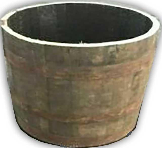 Half Whisky Barrel Wooden Planter
