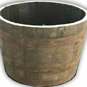 half whisky barrel planter