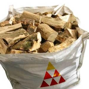 seasoned hardwood bulk bag