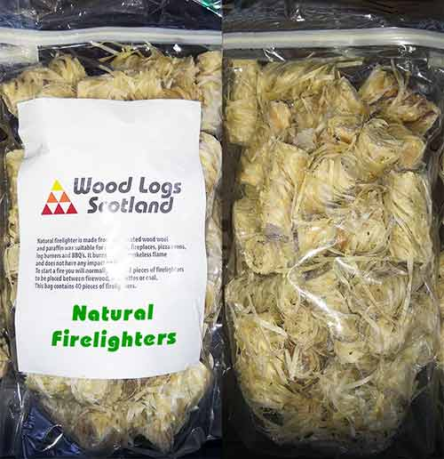 natural eco firelighters bag