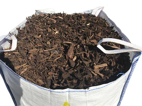 decorative bark mulch bulk bag