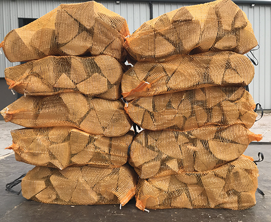 kiln dried ash hardwood firewood logs nets