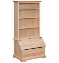 wooden toy chest with bookshelf - Toys Model Ideas