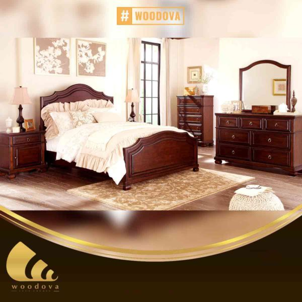 antique classic wooden bed set