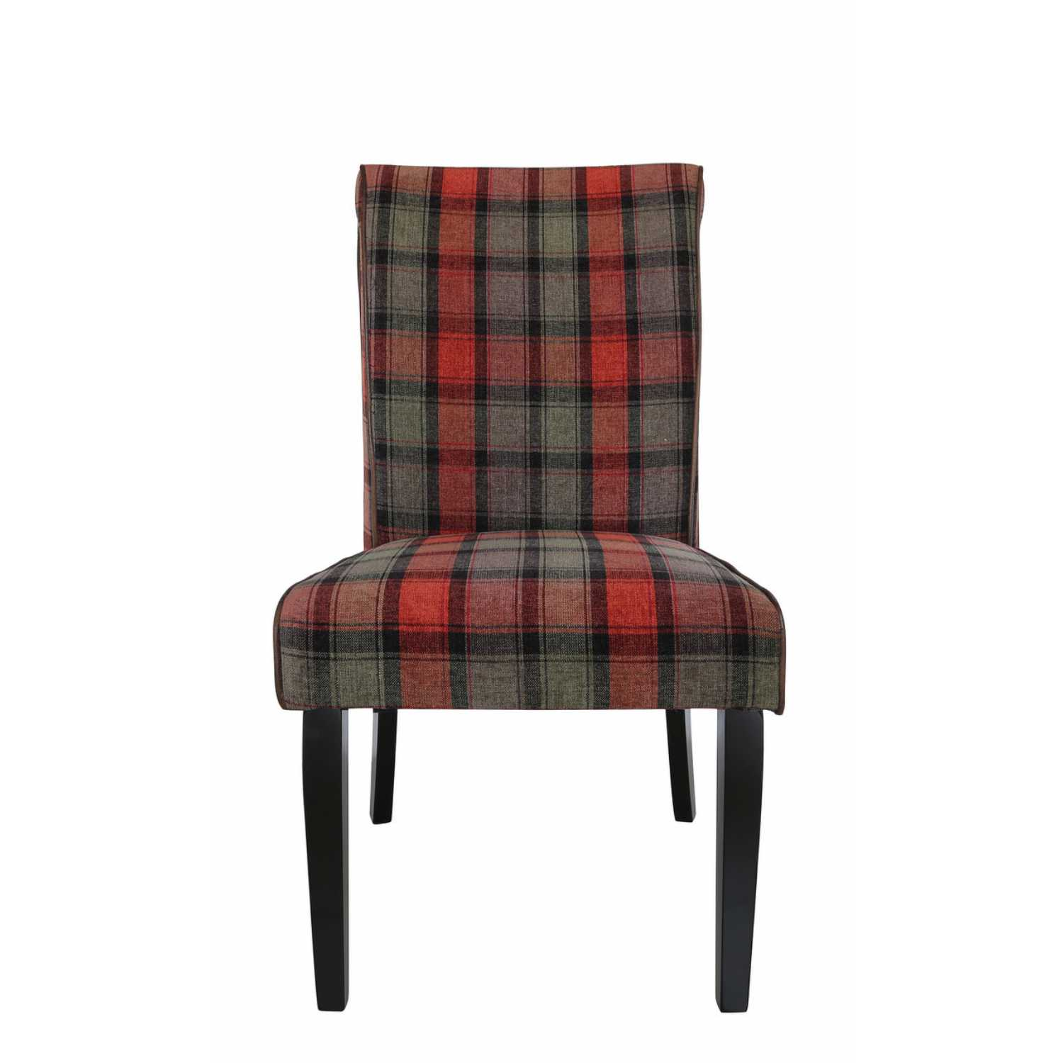 Taupe Dining Chairs Set Of Six Modern Taupe And Red Tartan Upholstered Dining