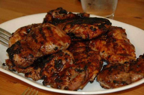 Boneless Chicken Thighs Wood Pellet Fired Patio Heaters