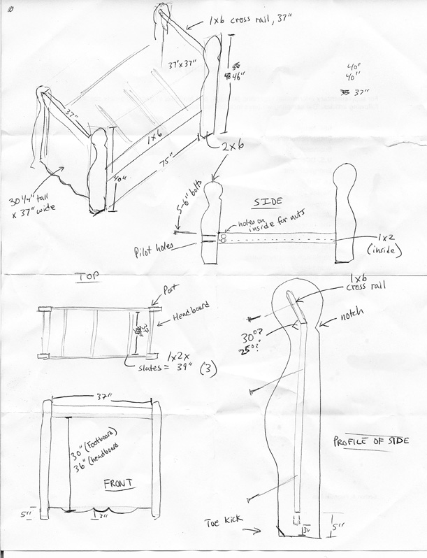 DIY King Size Sleigh Bed Woodworking Plans Wooden PDF bed