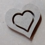 "Hearts cut from 3/16"" MDF"
