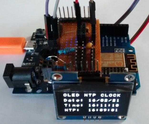NTP Synchronised OLED Clock