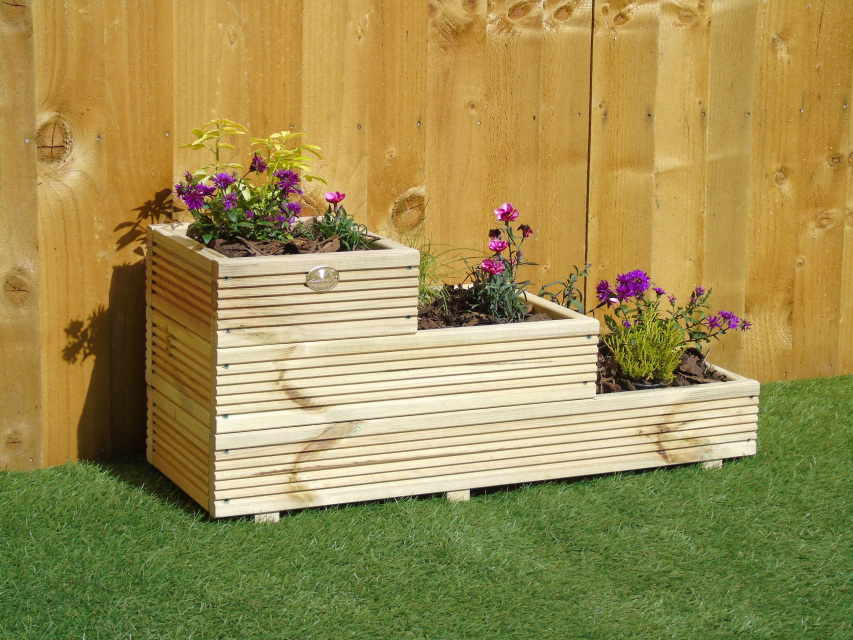 Extra Large Concrete Planters 3 Tiered Garden Level Steps Planter