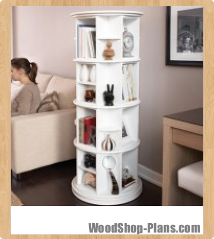 rotating bookcase plans