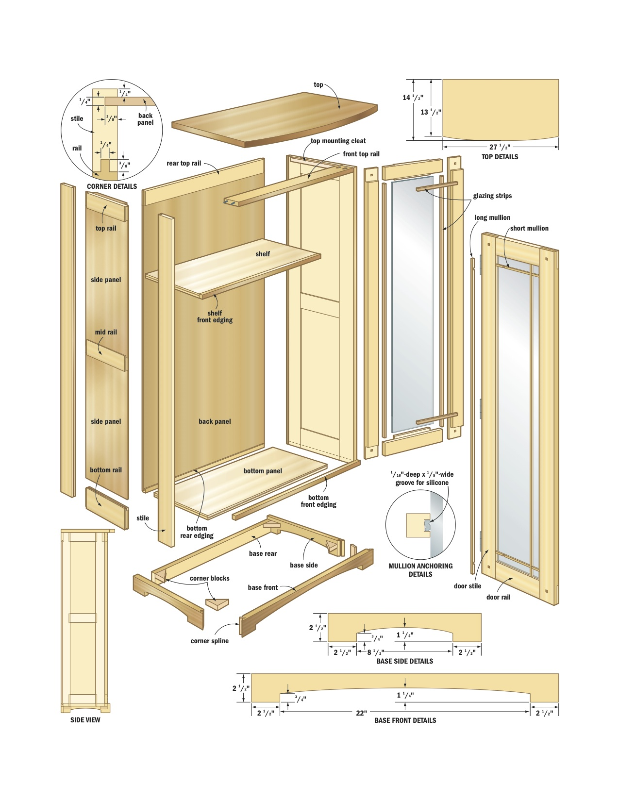 kitchen cabinets plans trolley cart woodwork cabinet woodworking pdf