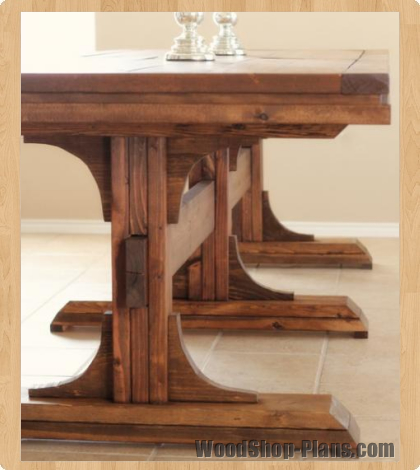 wooden table plans the kitchen