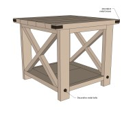 End Table Woodworking Plans : Amazing Brown End Table ...
