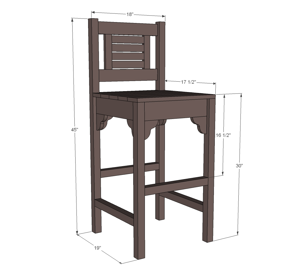 Build Plans Bar Stool Wood Plans Wooden Creative