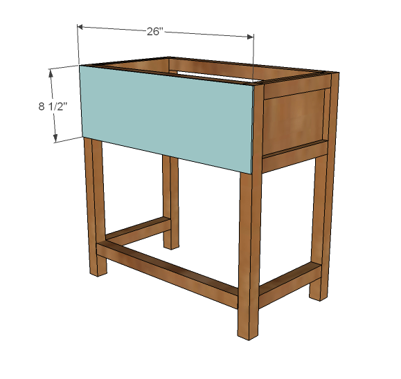 farmhouse bedside table woodworking plans step 04