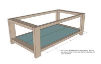 Woodwork Plans A Rustic Coffee Table PDF Plans