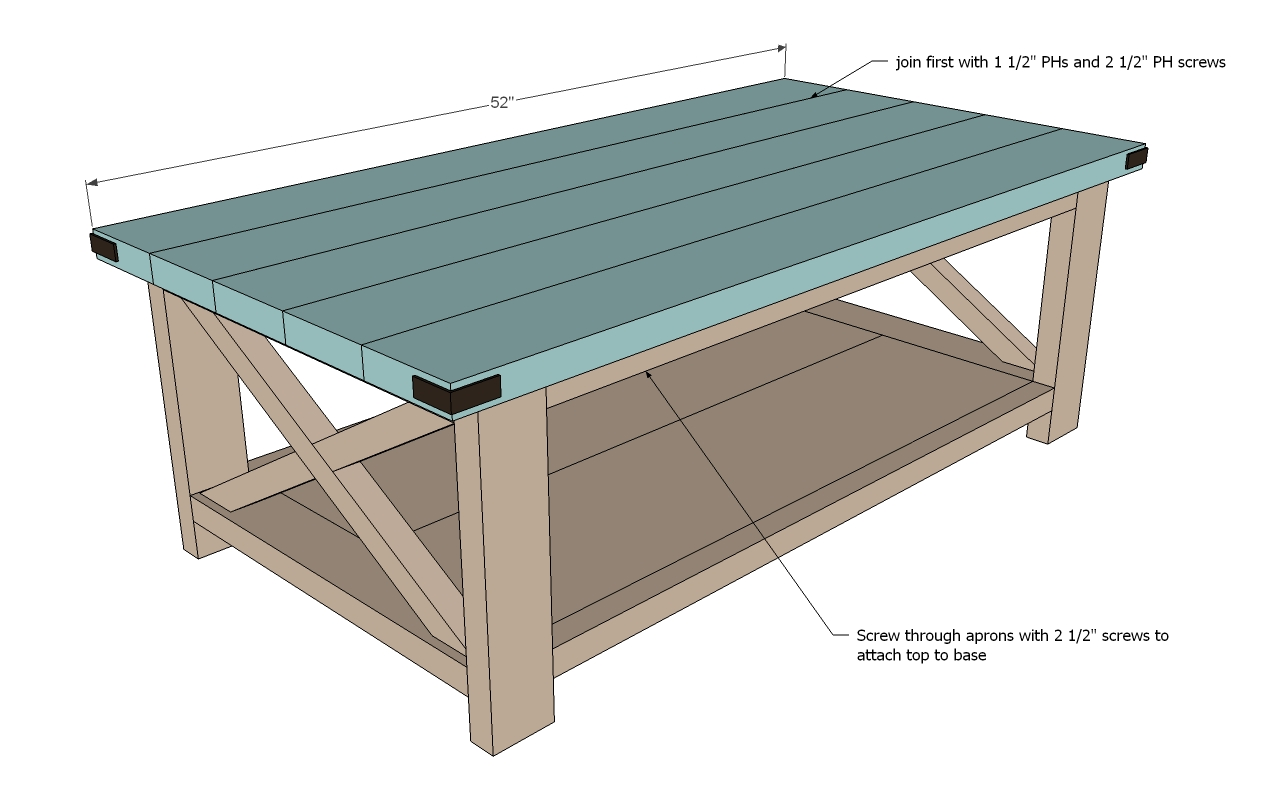 - √ Rustic Coffee Table Woodworking Plans