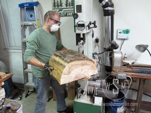 Half Log on Circle Cutting Jig
