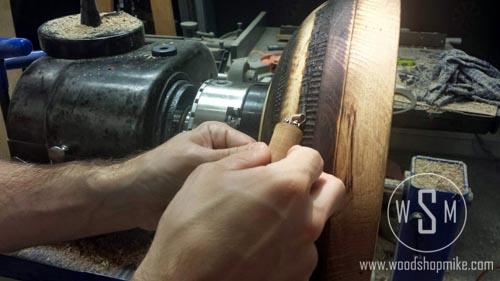 Basket Weave Pattern in Progress, BurnMaster Eagle