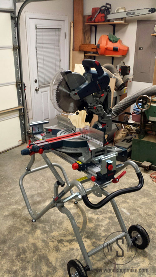 BOSCH Gravity Rise Miter Saw Stand, Done