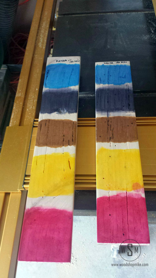 KEYDA Wood Dye Re-stained