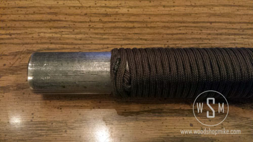 550 Paracord Handle, Melt Tag End