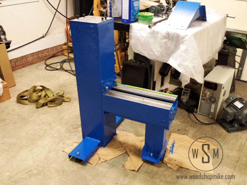 Pulling Off Painter's Tape, Big Blue Home Made Wood Lathe