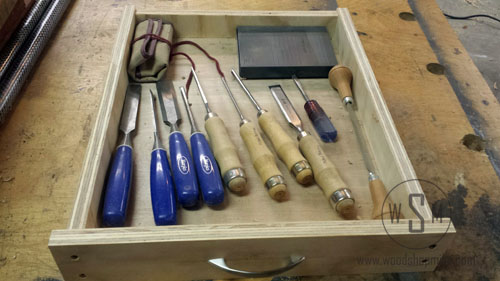 Drawer Of Chisels, Before