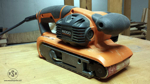 money shot, ridgid sander