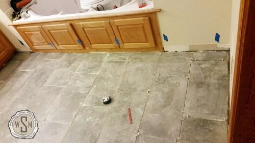 Almost Finished 3, Master Bath Remodel, Flooring