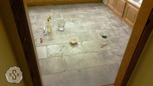 Almost Finished!, Master Bath Remodel, Flooring