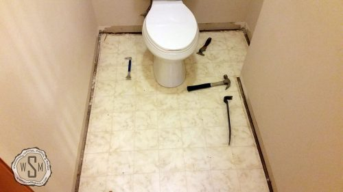 Bye Bye Toilet, Master Bath Remodel, Flooring